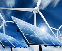 Zonnepanelen met windmolens - Schone energie en milieu bewust